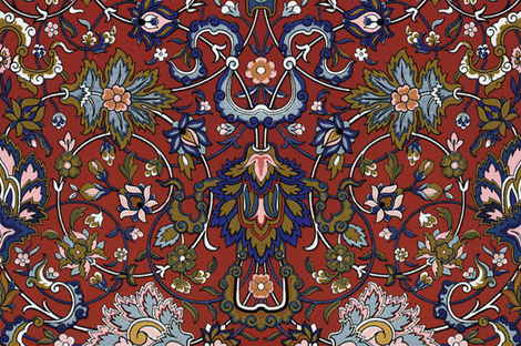 Genni's Tapestry ~  Annii and Ursa fabric by peacoquettedesigns on Spoonflower - custom fabric