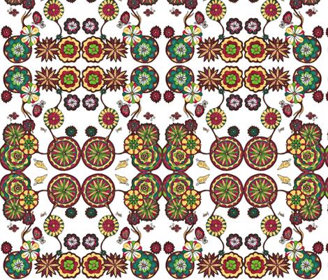 flower garden fabric by fashionita_boutique on Spoonflower - custom fabric