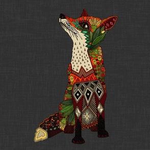 fox love lead linen swatch
