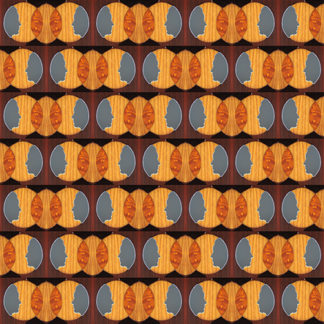 Marquetry Faces fabric by katie_allen on Spoonflower - custom fabric
