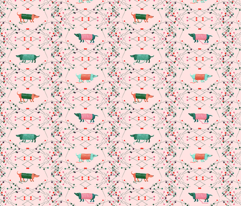 little dogs, 2 fabric by sanneteloo on Spoonflower - custom fabric