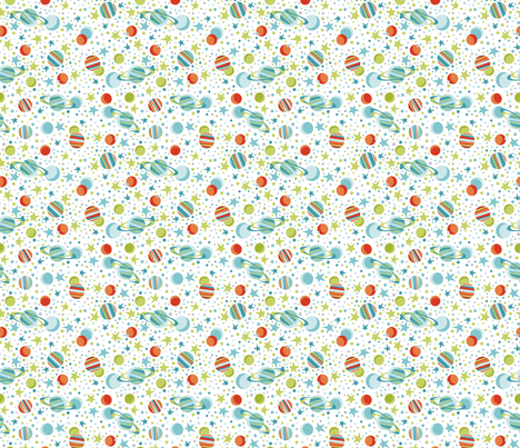 Multitude of Stars fabric by cjldesigns on Spoonflower - custom fabric