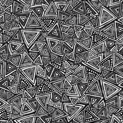 Tribal Triangles (Black and White)
