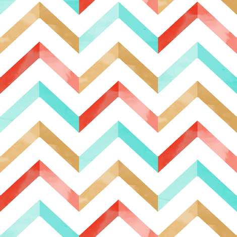 Watercolor Chevron fabric by willowlanetextiles on Spoonflower - custom fabric