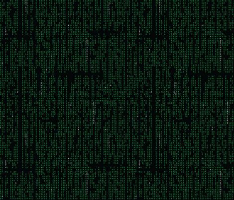 Digital Rain fabric by studiofibonacci on Spoonflower - custom fabric