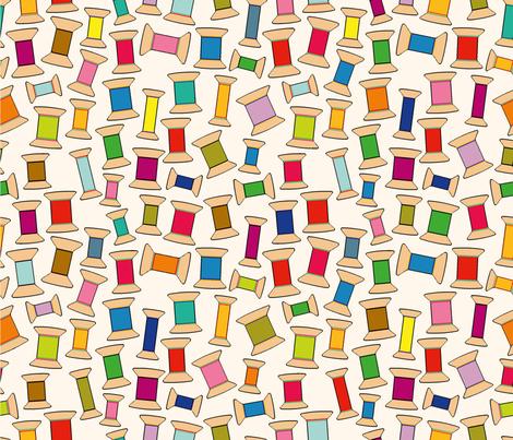 Bobbins fabric by cassiopee on Spoonflower - custom fabric