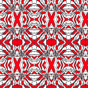 Shattered (Red and White)