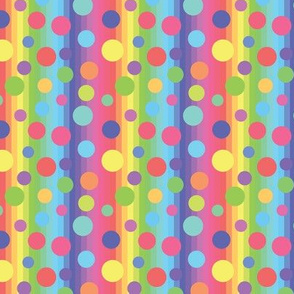 Circus Rainbow Stripes And Dots