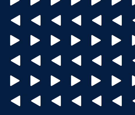 Triangles // navy (large scale) fabric by littlearrowdesign on Spoonflower - custom fabric