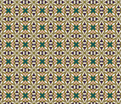 Elegant_Pearl_and_Turquoise_X fabric by ktd on Spoonflower - custom fabric