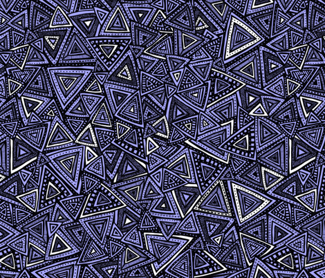 Tribal Triangles (purple) fabric by robyriker on Spoonflower - custom fabric