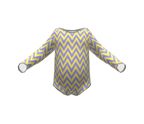 Chevron Yellow and Gray / Happy