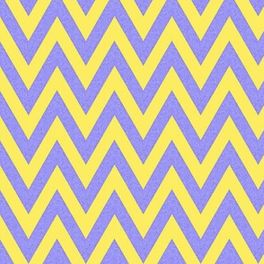 Yellow and Gray chevron / Happy