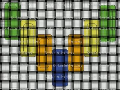 Colorful Square Chevron Weave