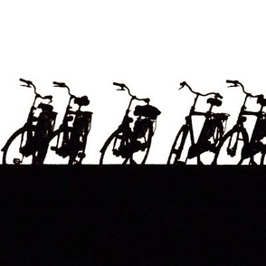 Bicycle silhouette black and white