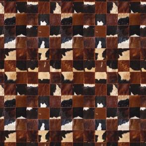Cow skin patchwork blocks