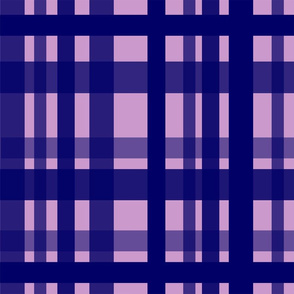 Vibrant Plaid Navy Blue & Pale Purple