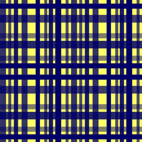 Vibrant Plaid Navy Blue & Yellow