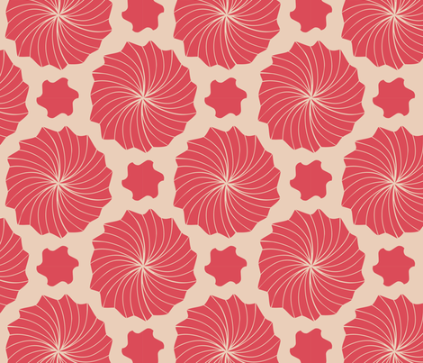 bright star dot burst fabric by megancarroll on Spoonflower - custom fabric