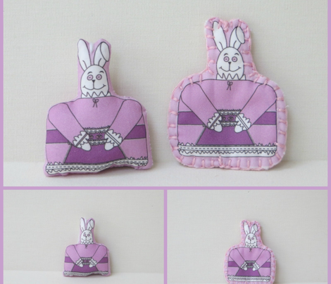 Patience Is A Virtue Cut and Sew Bunny Doll
