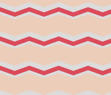 chevron sand, gray, scarlet fabric by megancarroll on Spoonflower - custom fabric