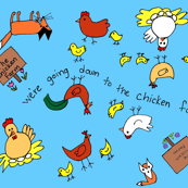 Chicken Farm Print