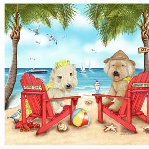 Loving Key West Quilt Panel