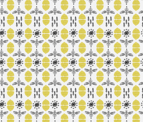 Honey Bees and Hives by Andrea Lauren fabric by andrea_lauren on Spoonflower - custom fabric