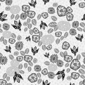 Bees in the Garden - Light Grey by Andrea Lauren