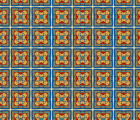 copper_and_denim_spotlights fabric by ktd on Spoonflower - custom fabric