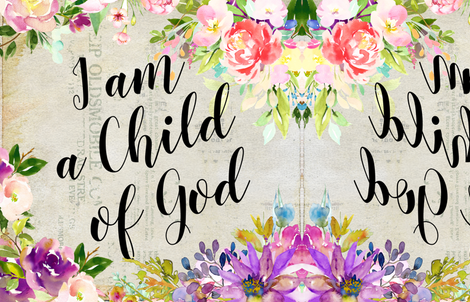 Child of God fabric by peagreengirl on Spoonflower - custom fabric