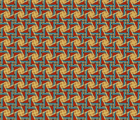 copper_and_denim_weaver fabric by ktd on Spoonflower - custom fabric