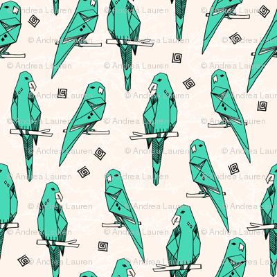 Parrot - Light Jade/Champagne by Andrea Lauren