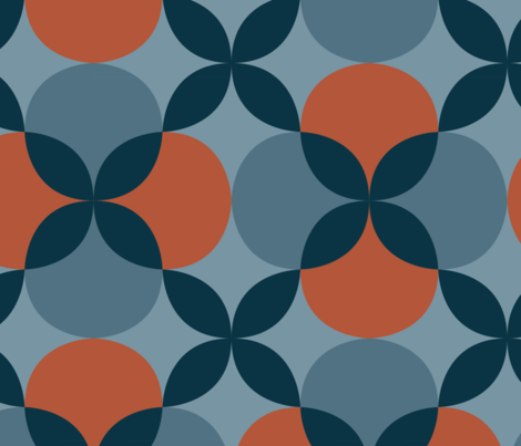 Winter Quatrefoil fabric by megancarroll on Spoonflower - custom fabric