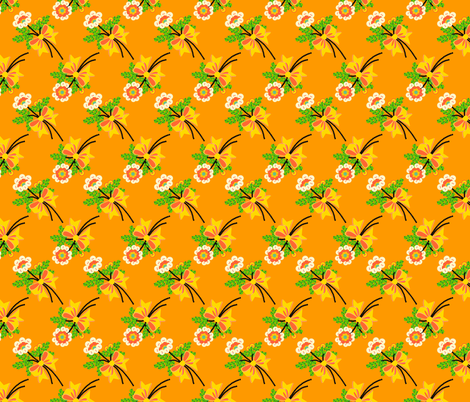 buttons'n'bows - orange fabric by moirarae on Spoonflower - custom fabric