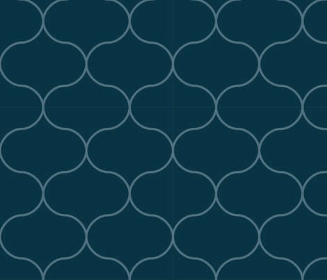 ogee_winter_tessellation_repeat_BLUE fabric by megancarroll on Spoonflower - custom fabric