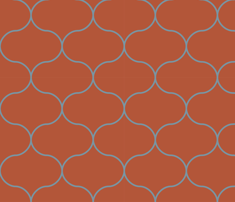 ogee_winter_tessellation_repeat fabric by megancarroll on Spoonflower - custom fabric