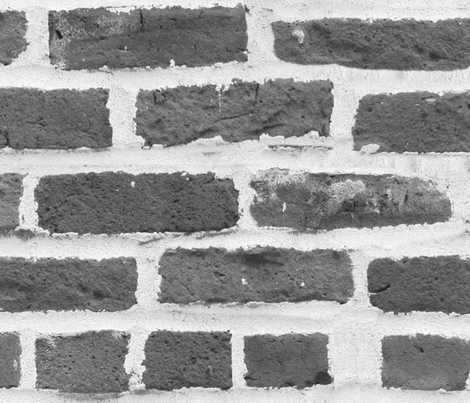 Hit A Brick Wall ~ Grey fabric by peacoquettedesigns on Spoonflower - custom fabric