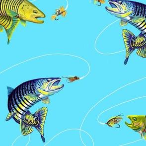 Trout_Fishing_Fat_Quartet