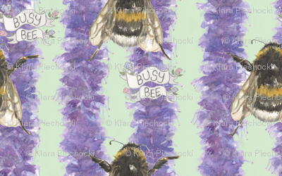 Bee_pattern_v2_green_preview