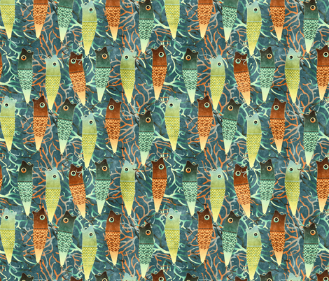 fishing frenzy fabric by kociara on Spoonflower - custom fabric