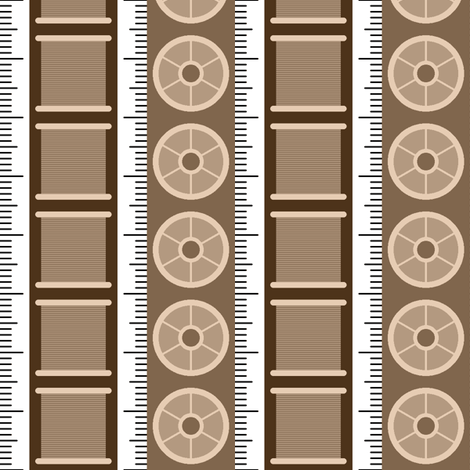 tape reel stripe fabric by sef on Spoonflower - custom fabric