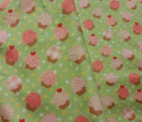 Small Pink Cupcakes Green