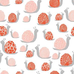 Snails - Vermillion/Pale Pink by Andrea Lauren