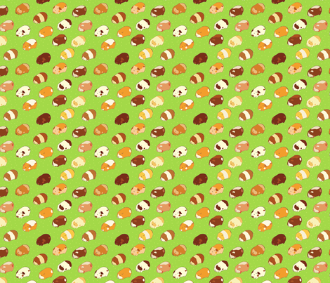 Guinea Pigs fabric by sugarcookie on Spoonflower - custom fabric