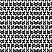 Skulldag Stripes in Black & White Reverse