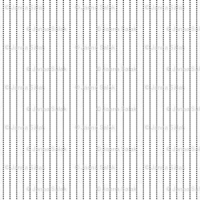 White and Black Dot Pinstripe