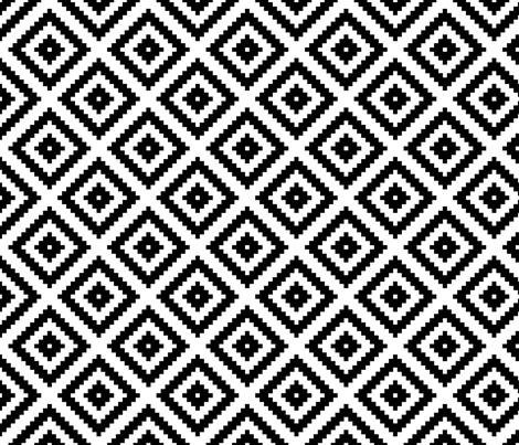 small nested diamonds fabric by pennyfarthing on Spoonflower - custom fabric