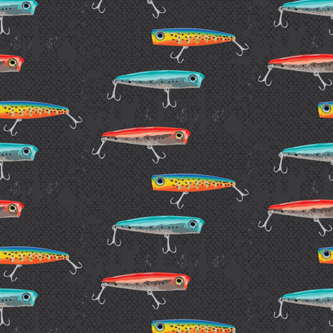 Fish On fabric by jenflorentine on Spoonflower - custom fabric