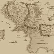 Map Of Middle Earth Small Repeat